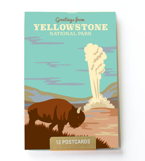 Yellowstone postcard set