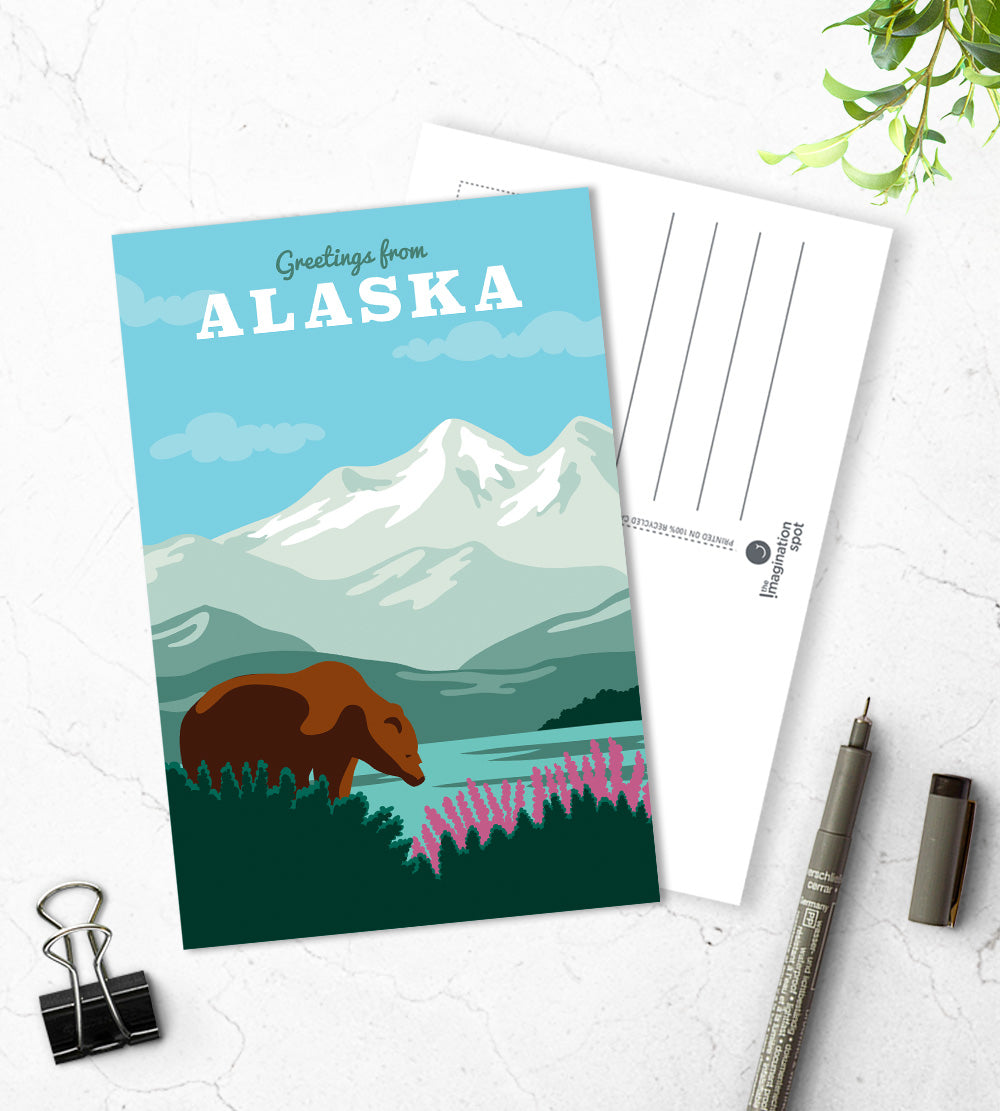 Alaska state postcards - The Imagination Spot