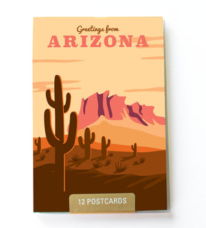 Arizona state postcard set