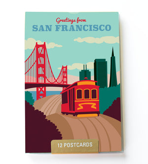 San Francisco postcard set