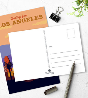 Lost Angeles city postcards