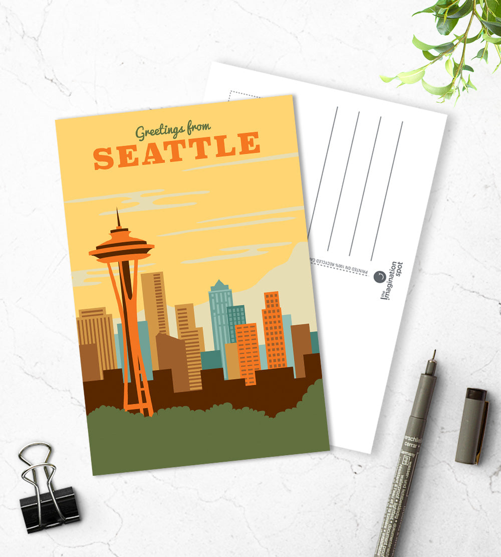 Seattle city postcards - The Imagination Spot