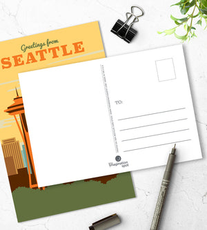 Seattle postcards - US city postcards