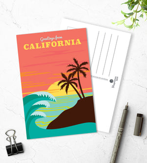California State Postcards - The Imagination Spot