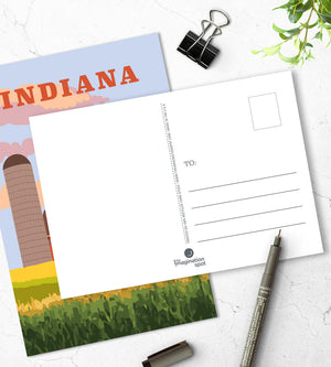 Indiana travel postcards - US state postcards