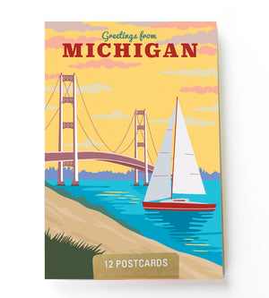 Michigan postcard set