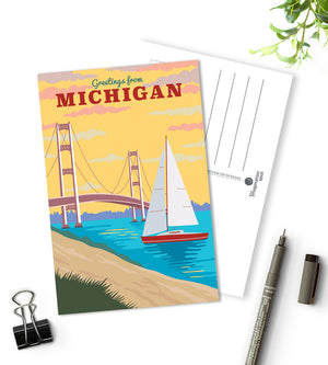 Michigan state postcards - The Imagination Spot