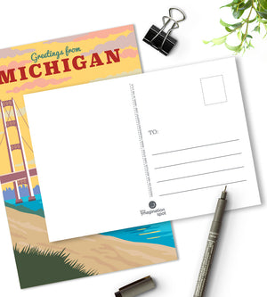 Michigan postcards - U.S state postcards