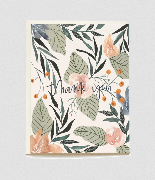 Gardenia Thank You Card