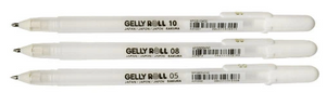Sakura Gelly Roll Pens - White 3 pc Set