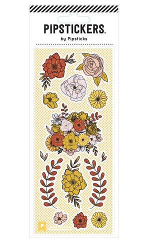 Flowers Sticker Set - 3 x 7 sheet