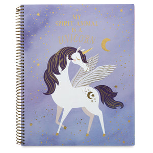 Unicorn - Large Spiral Notebook