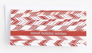 30% OFF - Sweet Holiday Wishes - Candy Cane Money Card