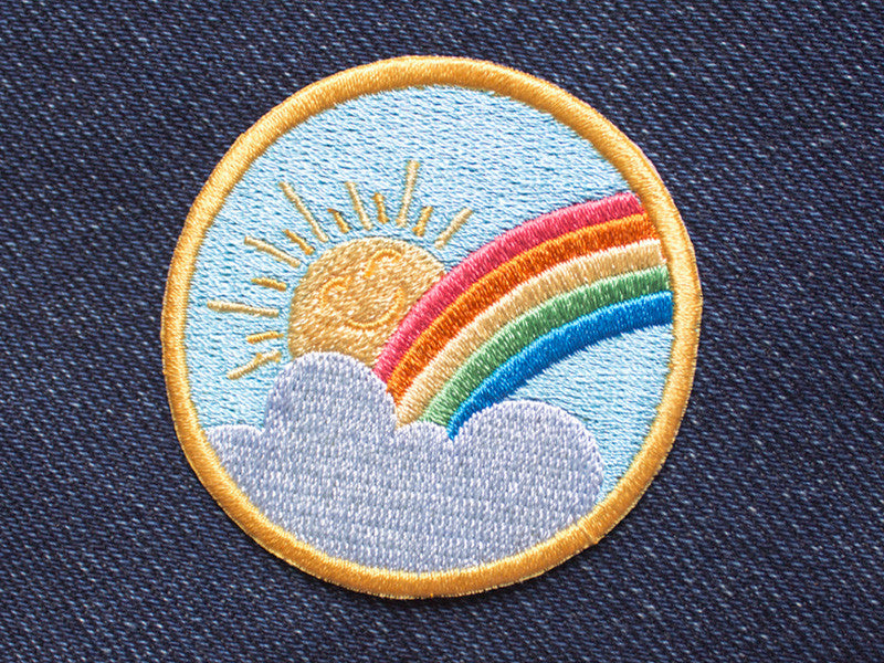 Iron on Patch - Rainbow Sunshine - Embroidered Patches - The Imagination Spot - 1