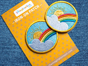 Iron on Patch - Rainbow Sunshine - Embroidered Patches - The Imagination Spot - 3