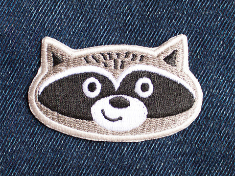 Iron on Patch - Raccoon Patch - Embroidered Patches