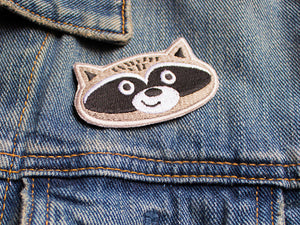 Iron on Patch - Raccoon Patch - Embroidered Patches - The Imagination Spot - 2