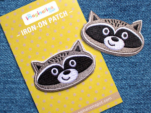 Iron on Patch - Raccoon Patch - Embroidered Patches - The Imagination Spot - 3