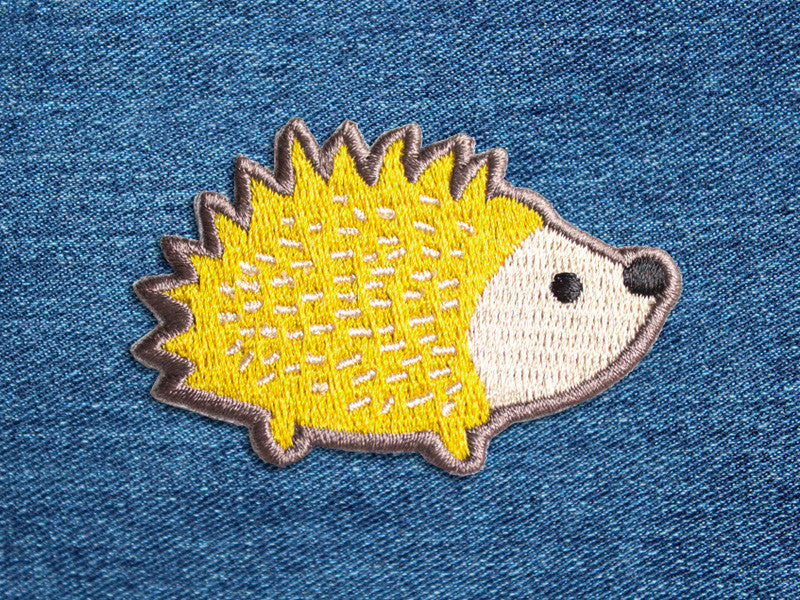 Iron on Patches - Hedgehog Patch - Embroidered Patches - The Imagination Spot - 1