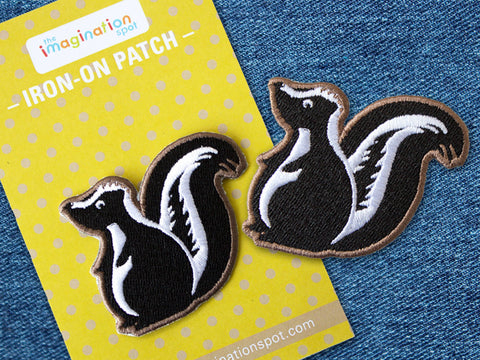 Iron on Patch - Skunk Patch - Embroidered Patches