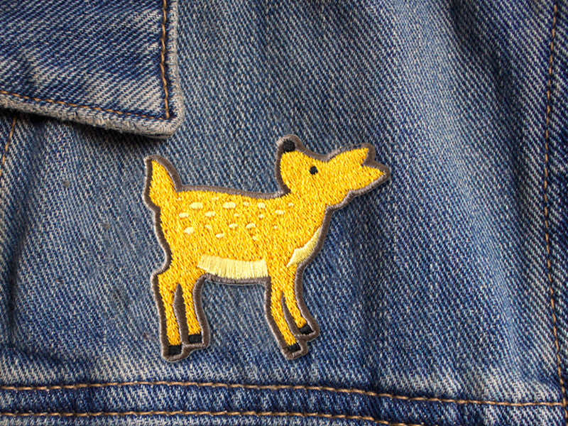 Deer iron on patch by The Imagination Spot