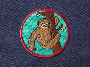 Sloth patch - Denim Patches by The Imagination Spot