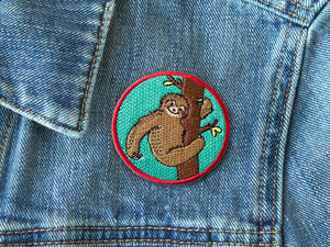 Sloth iron on patch by The Imagination Spot
