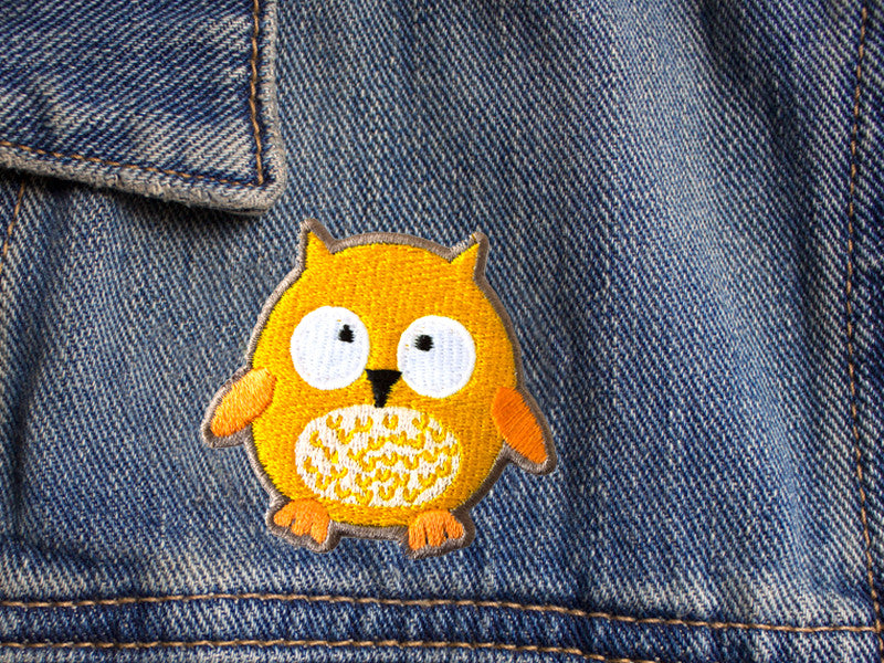 Owl iron on patch by The Imagination Spot