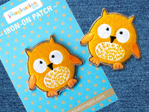 Owl patch - Denim Patches
