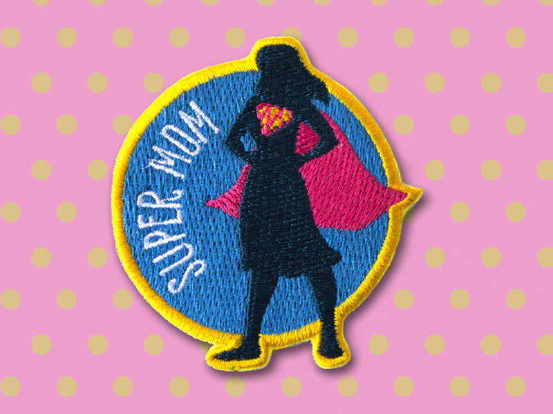 Super Mom - Iron on patch - Mother's day gift