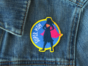 Super mom iron-on patch - Best mom