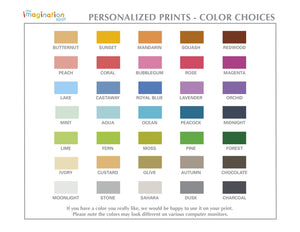 Personalized Art Print - Unicorn - Color Choices