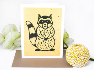 Raccoon Note Card Set - Woodland Animals - Handmade Cards - The Imagination Spot - 1