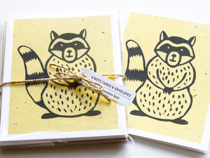 Raccoon Note Card Set - Woodland Animals - Handmade Cards - The Imagination Spot - 2