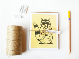 Raccoon Note Card Set - Woodland Animals - Handmade Cards - The Imagination Spot - 4