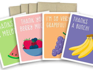 Assorted card set - Thank you cards