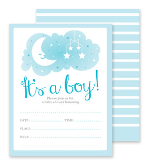 Boy Baby Shower - Fill-in Party Invitations