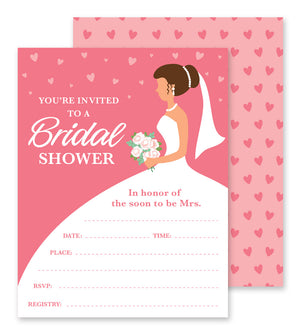 Bridal Shower - Fill-in Party Invitations