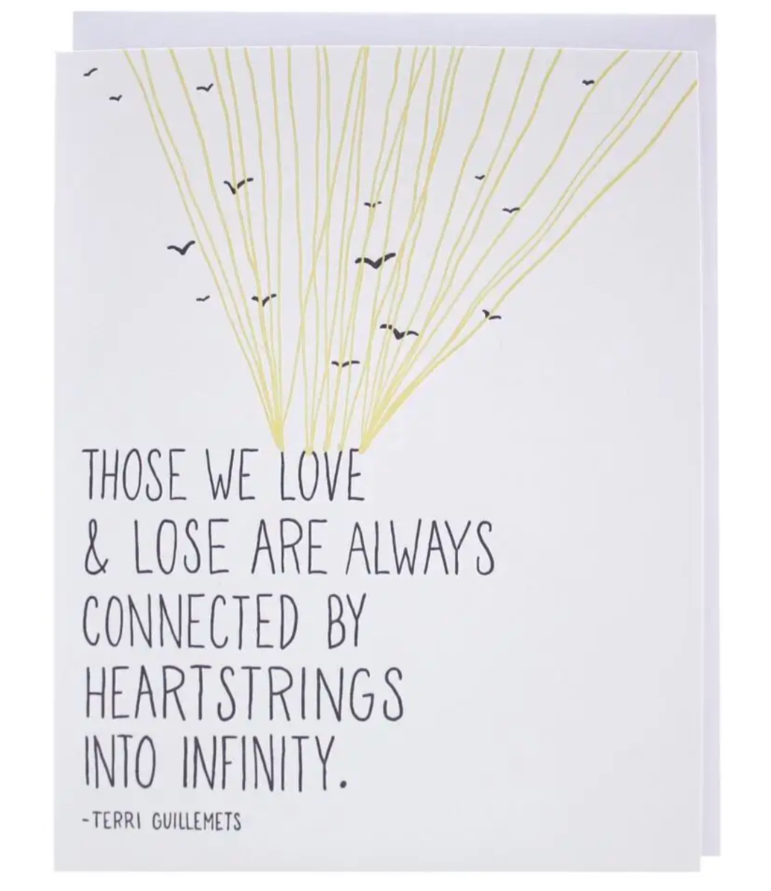 Heartstrings Sympathy - Letterpress Sympathy Card