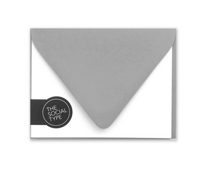 Flat Note Set - Assorted Colors - Notecard Set