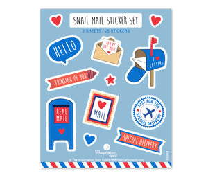 Snail Mail Stickers by The Imagination Spot