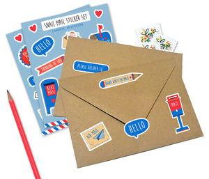 Cute snail mail stickers