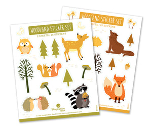 Woodland Animals - Acrylic stickers