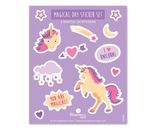 Unicorn sticker Sheet - Cute permanent stickers