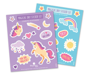 Unicorn Rainbow Sticker Set - The Imagination Spot