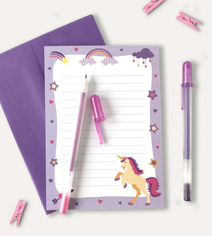 Unicorn Stationery Set - Notepad set