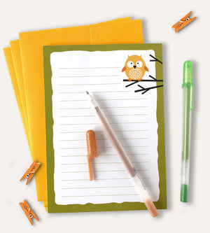 Owl Stationery Set - Letter Writing Set