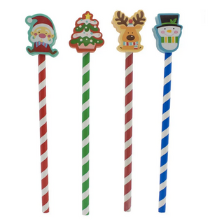 50% OFF - Christmas Pencil and Eraser Duo