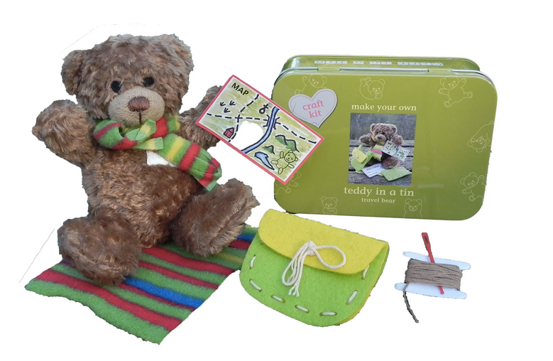 Travel Teddy In A Tin - Craft Kit