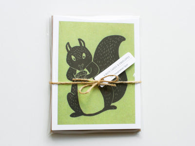 Squirrel Note Cards Set of 10 with Matching Envelopes